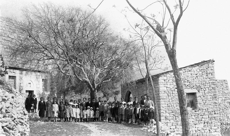 People from Lyban in front of the church of St Sergius, 1934